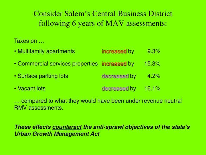 Consider Salem's Central Business District