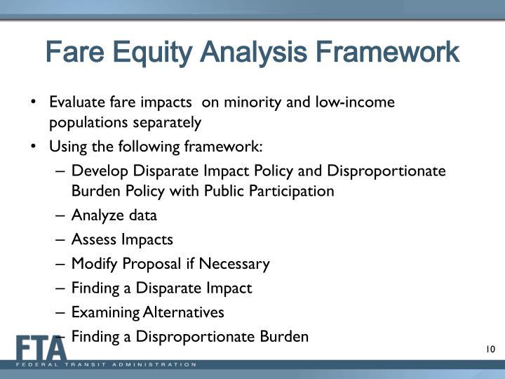 Fare Equity Analysis Framework