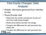 fare equity changes data analysis