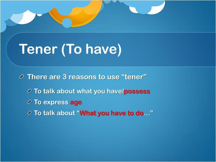 Tener (