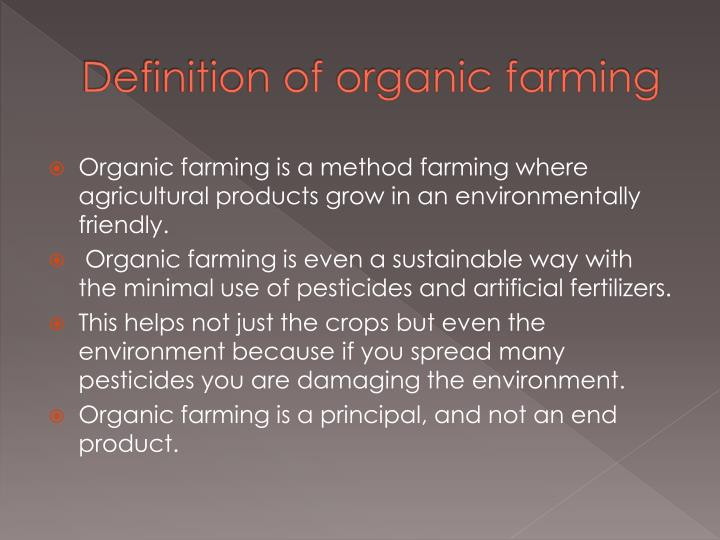 Definition of organic farming