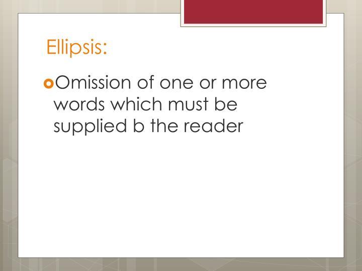 Ellipsis: