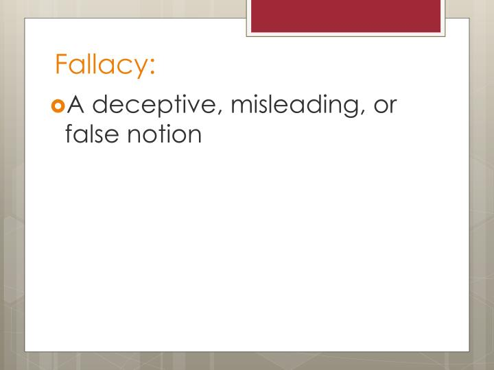 Fallacy: