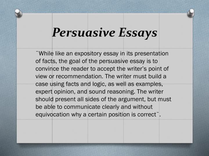 Persuasive Essays