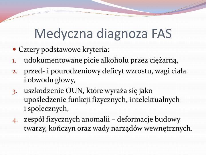 Medyczna diagnoza FAS