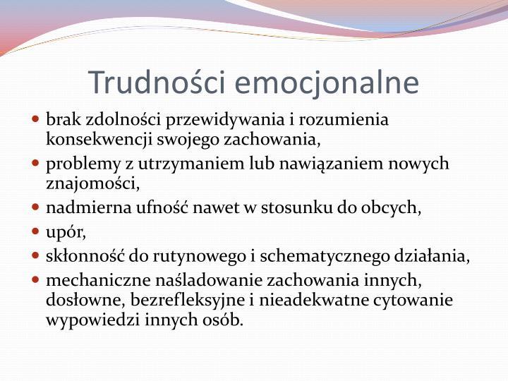 Trudności emocjonalne