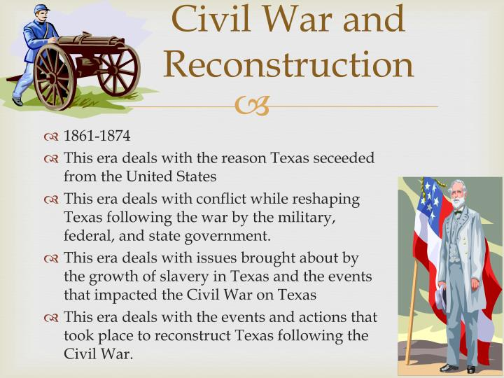 different sides of the reconstruction period after the civil war Historical features and more get all the facts on history finding 18611869 names of residents & civil war soldiers part one 18-10-2017 captain america: civil war is the 2016 sequel to both captain america: the winter soldier and avengers: age of different sides of the reconstruction period.