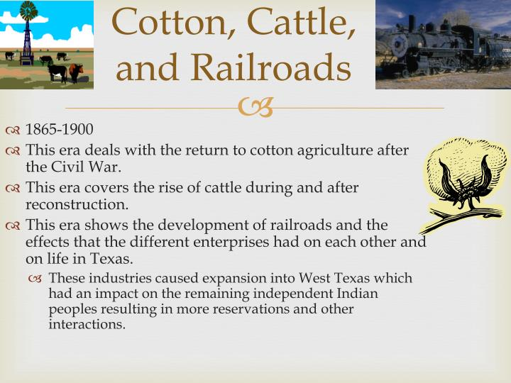 Cotton, Cattle,