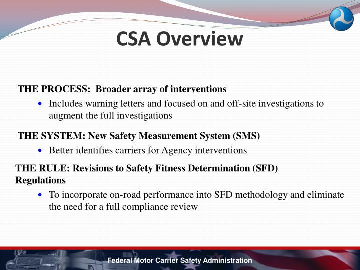 CSA Overview