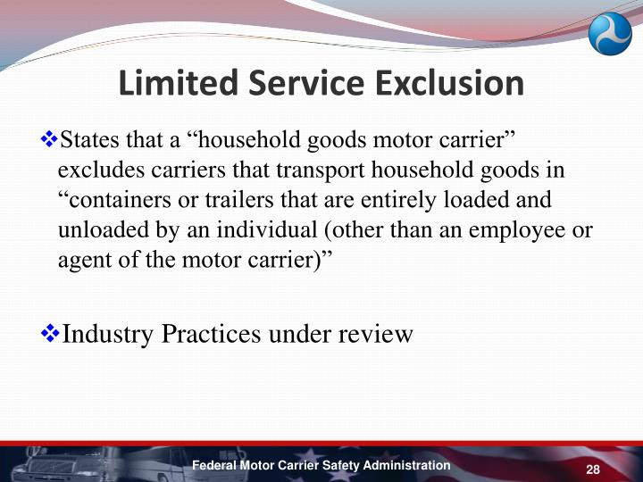 Limited Service Exclusion