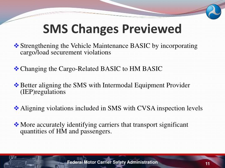 SMS Changes Previewed