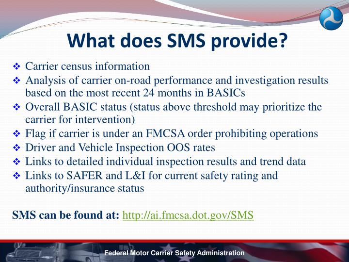 What does SMS provide?