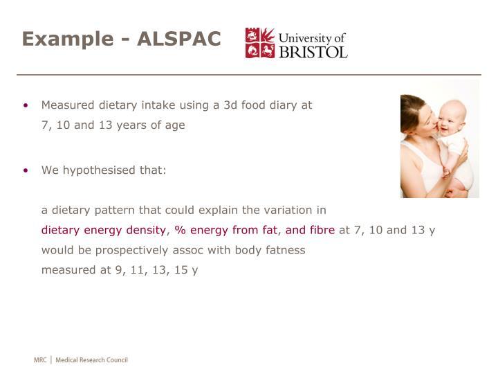 Example - ALSPAC