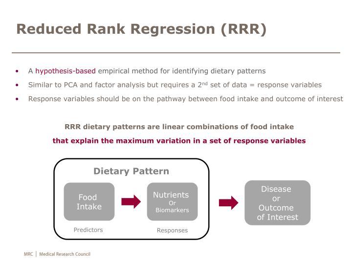 Reduced Rank Regression (RRR)