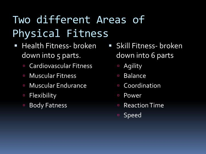 Two different Areas of Physical Fitness