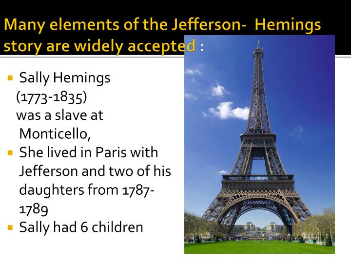 Many elements of the Jefferson-