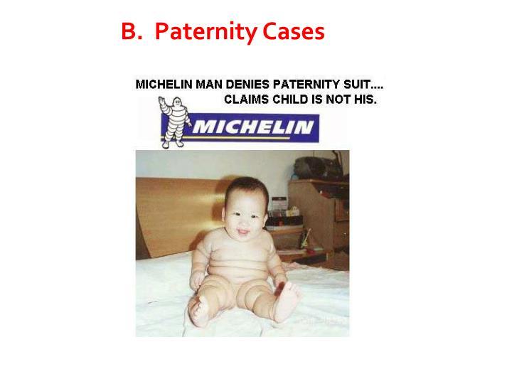 B.  Paternity Cases