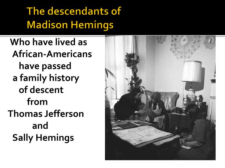 The descendants of