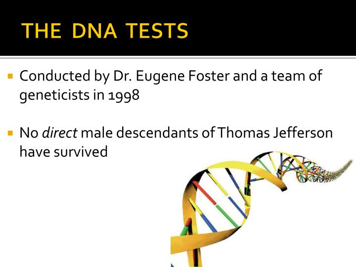 THE  DNA  TESTS