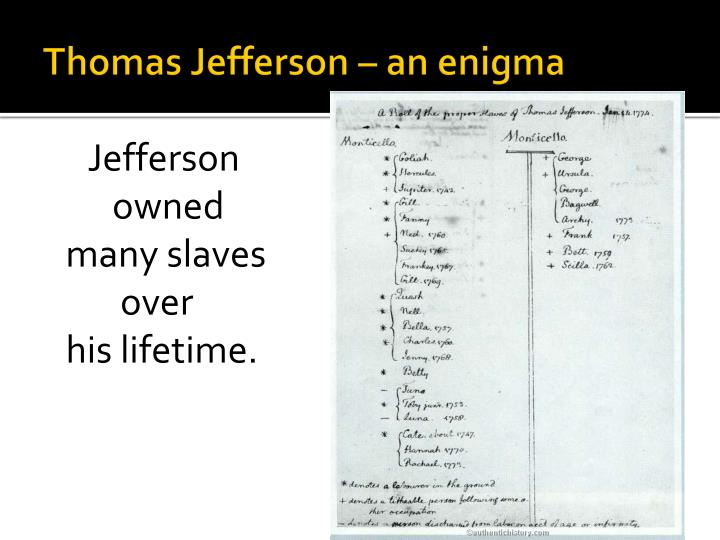 Thomas Jefferson – an enigma