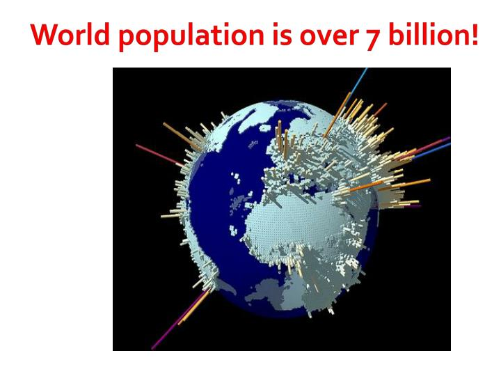 World population is over 7 billion!