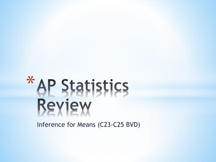 Ap statistics review