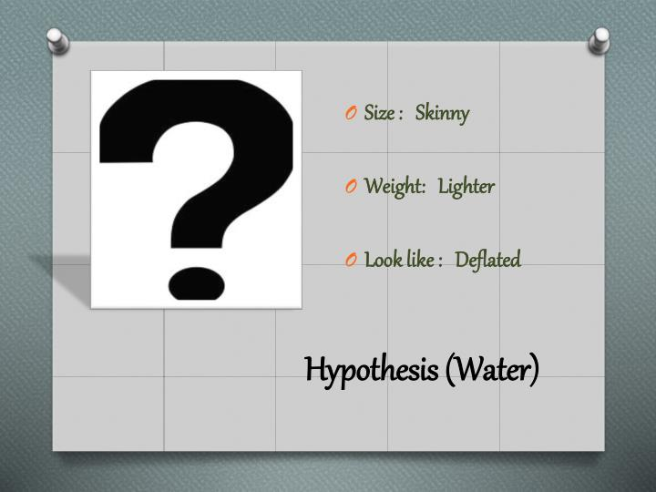 Hypothesis (Water)