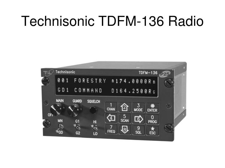 Technisonic tdfm 136 radio