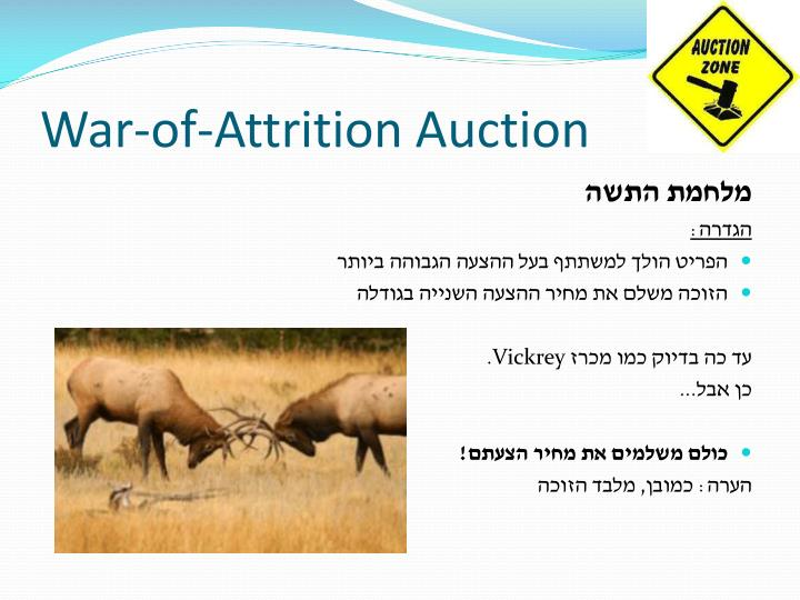War-of-Attrition Auction