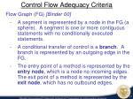 control flow adequacy criteria