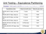unit testing equivalence partitioning1
