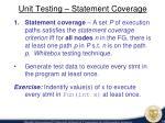 unit testing statement coverage