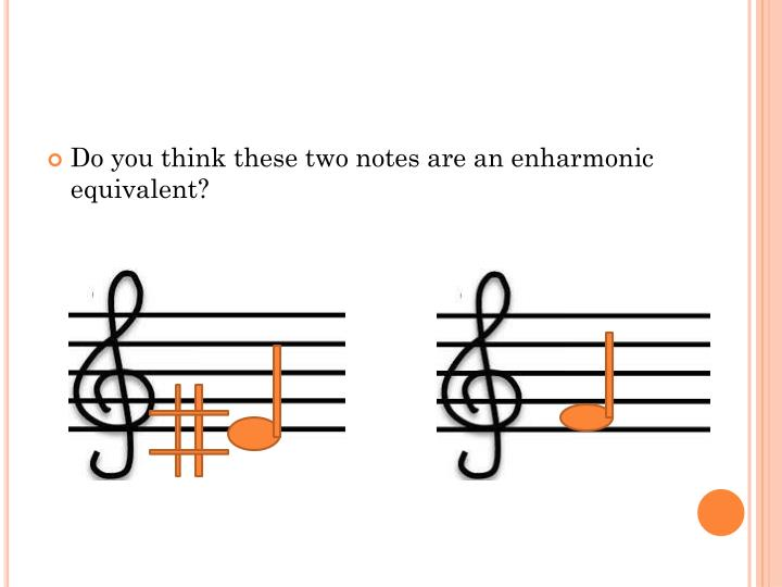 Do you think these two notes are an enharmonic equivalent?