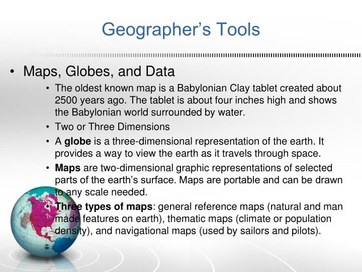 Geographer's Tools
