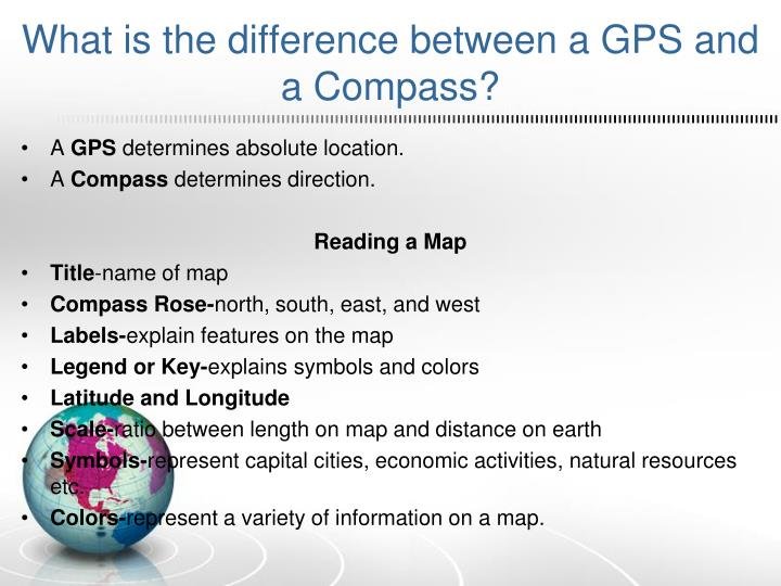 What is the difference between a GPS and a Compass?