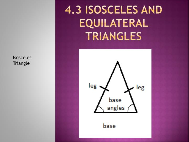 4 3 isosceles and equilateral triangles
