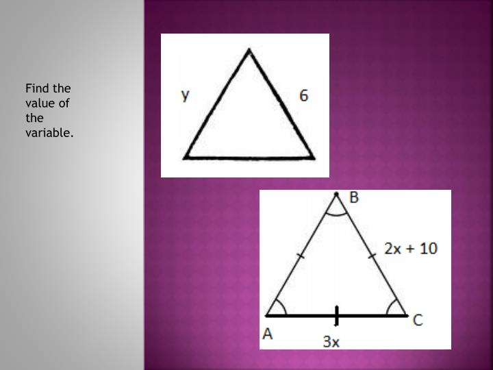 Find the value of the variable.