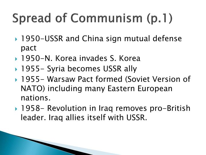Spread of Communism (p.1)