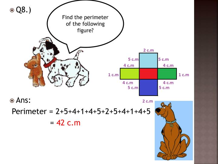 Find the perimeter of the following figure?