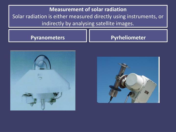 Measurement of solar radiation