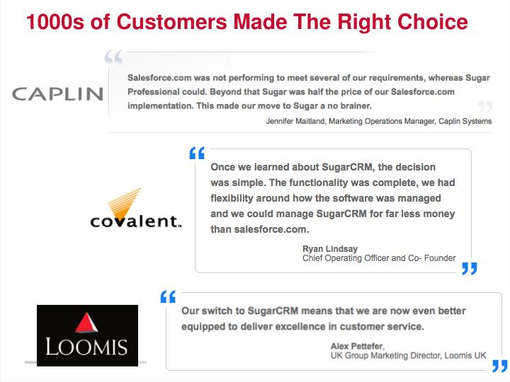 1000s of customers made the right choice