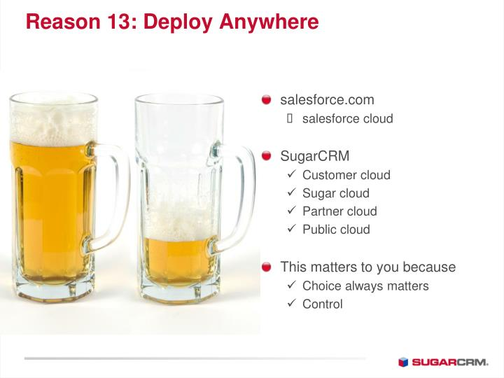 Reason 13: Deploy Anywhere