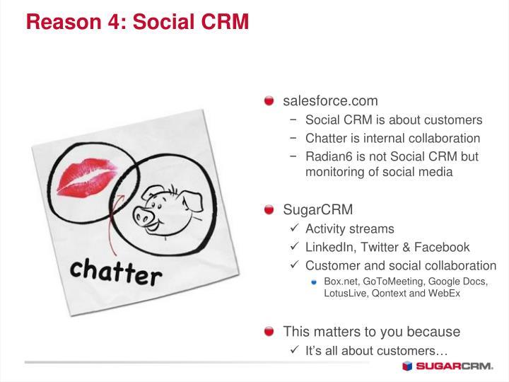 Reason 4: Social CRM