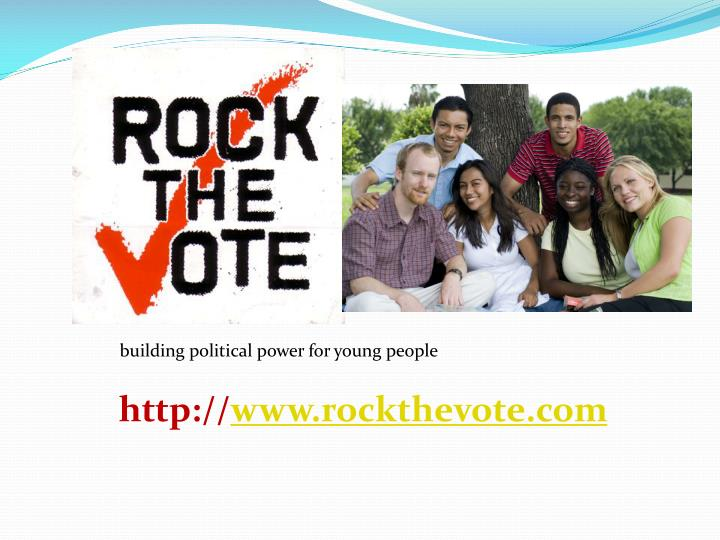 Building political power for young people