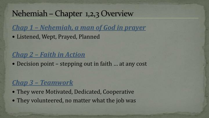 Nehemiah chapter 1 2 3 overview