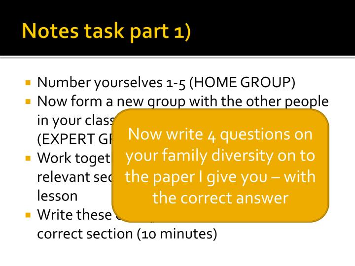 Notes task part 1)