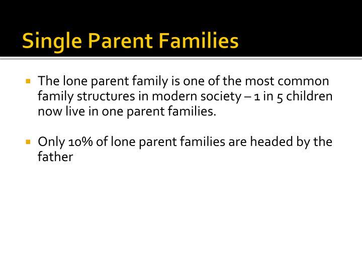 Single Parent Families