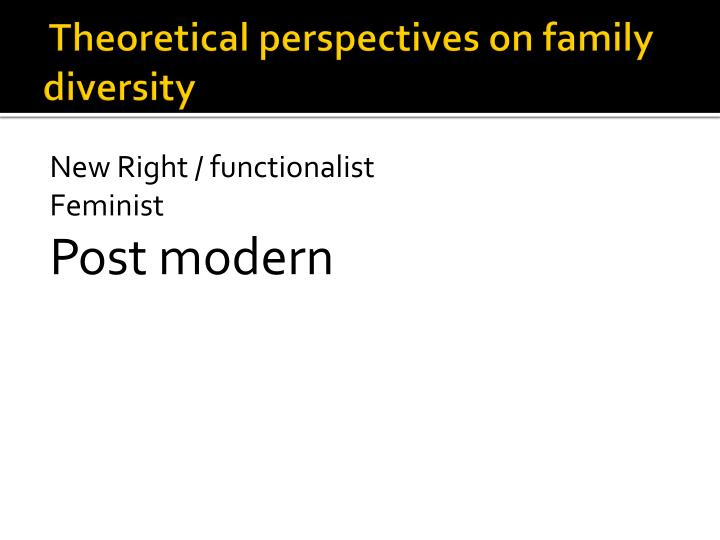 Theoretical perspectives on family diversity