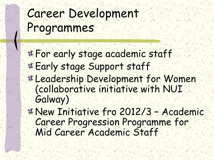 Career Development Programmes