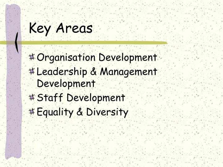 Key areas